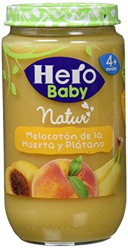 Hero Baby Babynatur Alimento Infantil, Melocotón De La Huerta Y Plátano, Sin gluten, A Partir De 4 Meses - 235 gr