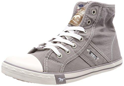 MUSTANG Damen 1099-502-932 Hohe Sneaker, Grau (Silbergrau 932), 41 EU Hohe Reißverschluss