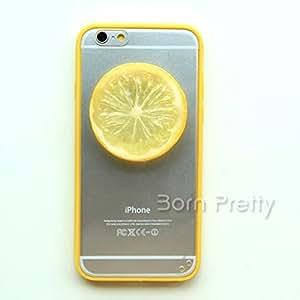 Generic Lemon Slice Decor Case For iPhone 6/6Plus Creative Design Transparent Lemon Case # 21284(yellow(iphone6 plus)