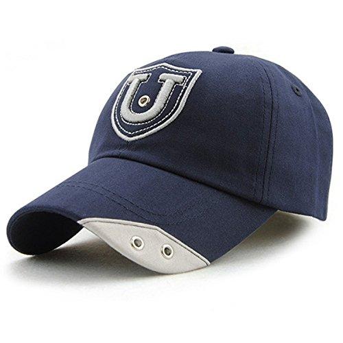Berretto da baseball in cotone Lettera - iParaAiluRy esterna alla moda registrabili unisex Rivetti tempo libero Cappello ricamo per maschi e femmine