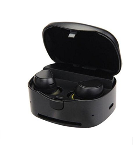 SQCOOL Mini auricular Bluetooth para música y comunicación manos libres con audífonos deportivos impermeables MIC y Power Box , A