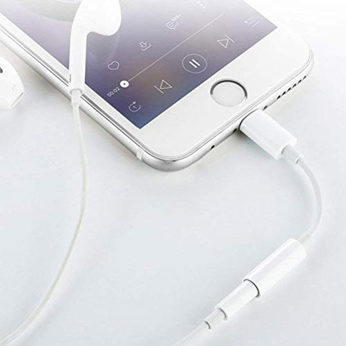 Headphone Adapter, 3,5 mm Kopfhörer Adapter für Phone 7/7plus Phone 6/6Plus. Earphone Connector auf 3,5 mm AUX Audio Jack Kopfhörer Extender Jack Stereo - Unterstützt IOS 10,2 (weiß) - 5