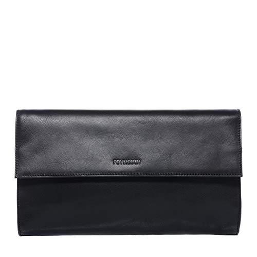 FEYNSINN Clutch Leder Jessy Unterarmtasche Damen Abendtasche Damen Tasche echte Ledertasche Damentasche schwarz