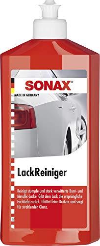 SONAX LackReiniger (500 ml) kraftvolle Politur für stumpfe und stark verwitterte Bunt- und MetallicLacke | Art-Nr. 03022000