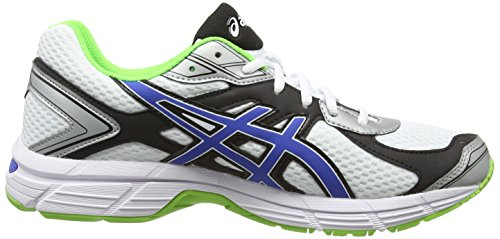 ASICS Gel-Pursuit 2, Running Entrainement Hommes Blanc (White/Blue/Flash Green 142)