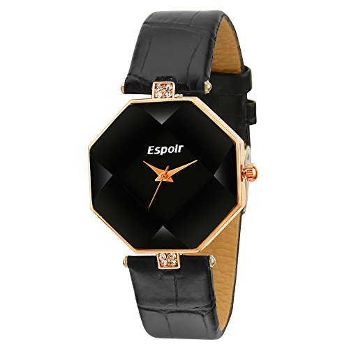Espoir Stylsih Latest Black Dial Girl's and Women's Watch - Stylish 0507