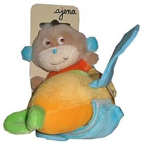 Ajena - Doudou singe dans un avion - 10 cm