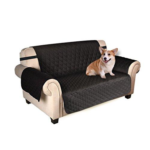 Puppymate Sofaschoner Sofabezug 3 Sitzer Wasserdicht Anti-Rutsch Schwarz/Grau/Koffee (Schwarz)