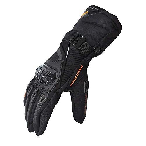 Schutzhülle Motorrad Handschuhe Touchscreen Winter Warm Wasserdicht Winddicht, Schwarz