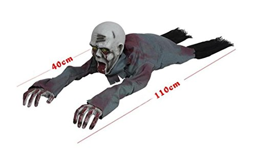 JJH-ENTER Halloween Kammer des Schreckens Spukhaus Bar Dekoration Requisiten Kunststoff Terror Elektrisch Induktion Steige die Geister (Objekt Kopf Kostüm)
