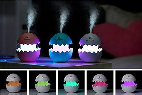 Luz infantil nocturna quitamiedos - lámpara ambiental led con Humidificador ultrasónico - difusor de aceites esenciales para Aromaterapia (Blanco)