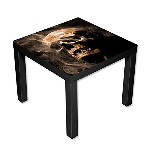 Nachttisch Gothic (Beistelltisch Couchtisch mit Motiv Gothic Totenkopf im Rauch)
