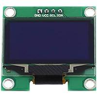 Akozon Módulo de Pantalla OLED, 1.3 Inch 128X64 OLED Pantalla IIC I2C Comunicar Color de texto blanco 4 Pin, para Arduino Pantalla