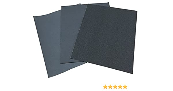 Schleifpapier wasserfest P60-P1200 Nass//Trocken 230x280mm Handschleifpapier 10x P80