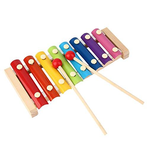 Bussare a mano Pianoforte in legno Giocattolo per bambini Xilofono Musica Ritmo Imparare in anticipo colorato