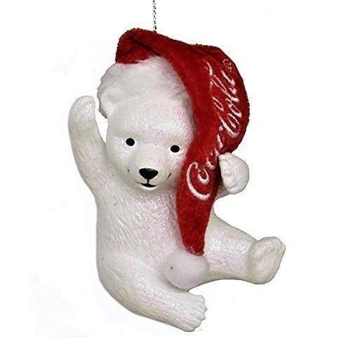 Kurt Adler Coca-Cola Eisbär mit Weihnachtsmütze -