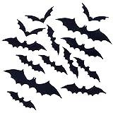 YHmall 120 Piezas Halloween Pegatinas para Pared 3D Murciélagos Halloween Decoración Pared Pegatinas Props