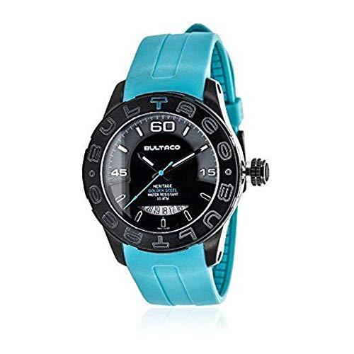 Bultaco H1AB43S-SG1 - Reloj de pulsera para hombre, azul/p