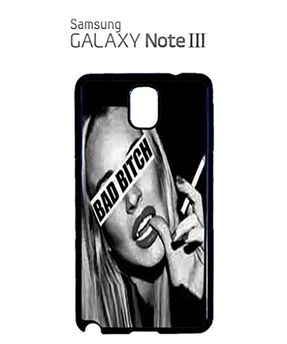 Bad B*tch Sexy Girl Funny Hipster Swag Mobile Phone Case Back Cover Coque Housse Etui Noir Blanc pour Samsung Note 2 Black Blanc