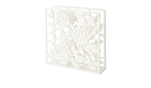 rivestimento in polvere Portatovaglioli bianco materiale acciaio//poliestere in resina epossidica dimensioni Lunghezza: 16/cm larghezza: 4/cm altezza: 16/cm