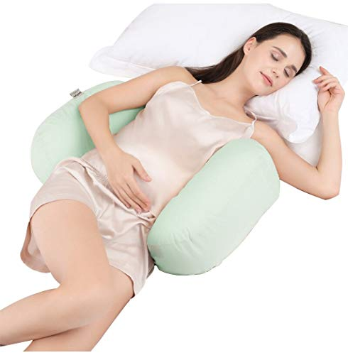 7c3c77061 LXQGR Las Mujeres Embarazadas Almohada Lado de la Cintura Almohada para  Dormir Multifuncional elevación del estómago