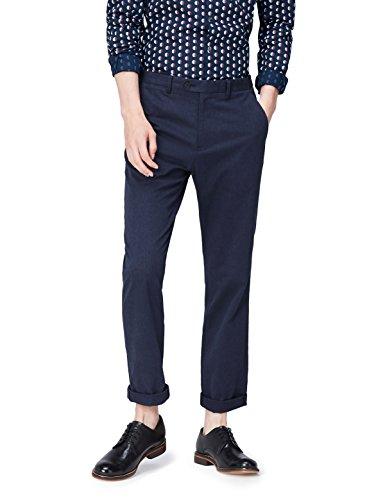 FIND Pantalón Clásico para Hombre, Azul (Navy), W36/L32 (Talla del fabricante: 36)