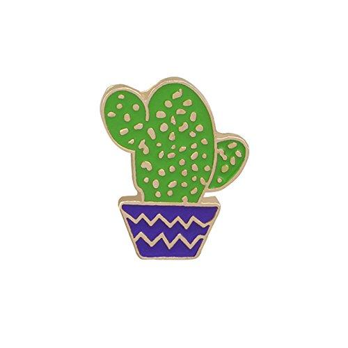 Adisaer Emaille Pins Brosche Damen Kaktus Broschen Grün Blau Mädchen 1 Stück Retro
