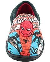 Boys Marvel Avengers Spiderman Slip On Slippers Shoes Black Toddler Children Size UK 7 - 1