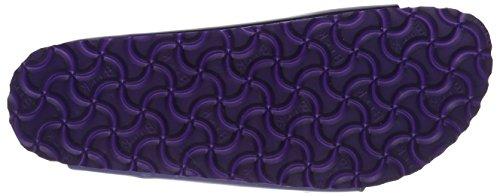 Birkenstock Damen Arizona Leder Softfootbed Pantoletten Violett (Metallic Violet)