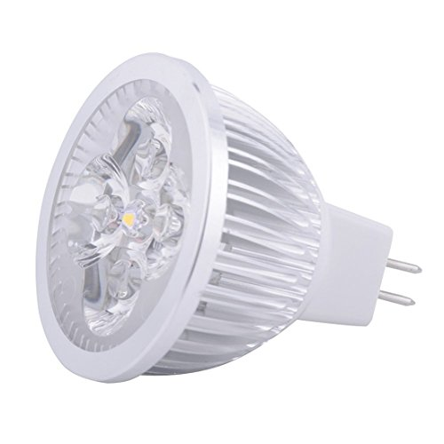 JIALUN-Glühbirne LED MR16 SPotlight - 4 Watt - 400-440 Lumen - 40W Gleich - 3000/6000 Kelvin - 45 Deg. Schmale Flut - AC / DC 24V - GU5.3 Base ( Color : Cool white-1PCS ) (50w Gy6.35 Base)