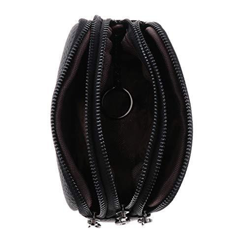 Exclusivo Diseño Mujer Monedero Tres Cremallera Cartera