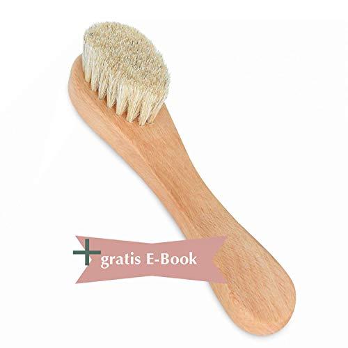 Premium Gesichtsbürste - Sanfte Peelings für Gesicht und sensible Haut, auch für basische Seifen geeignet - Gesichtsreinigungsbürste aus Holz.