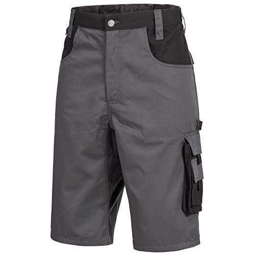 Nitras Motion Tex Plus Arbeitshose - Arbeitshosen kurz für Herren & Damen - Arbeitskleidung Bundhose Schutzhose - Grau Größe 58
