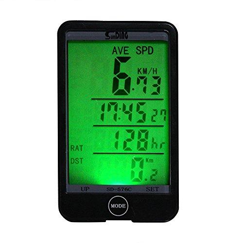 Chronometre - Sunding Multi Function sans fil velos Chronometre Compteur de vitesse Odometre de velo Cyclometres etanche LCD tactile Ordinateur avec grand ecran retro-eclairage