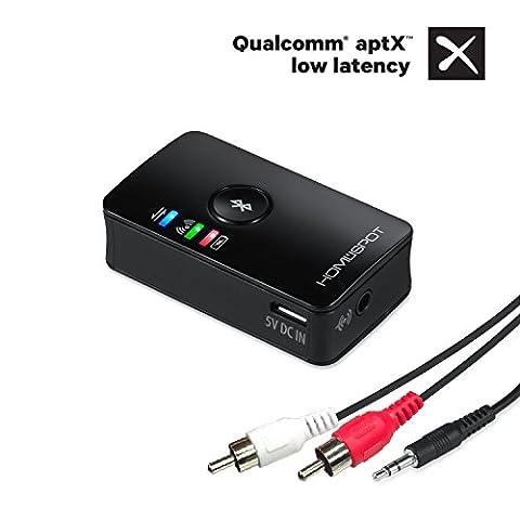 HomeSpot ® Dual Musik Stream Bluetooth Audio Transmitter (Sender) mit Auto-Reconnect Funktion und aptX (Dual Bluetooth