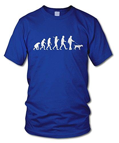 shirtloge - EVOLUTION GASSI - KULT - Fun T-Shirt - in verschiedenen Farben - Größe S - XXL Royal (Weiß)