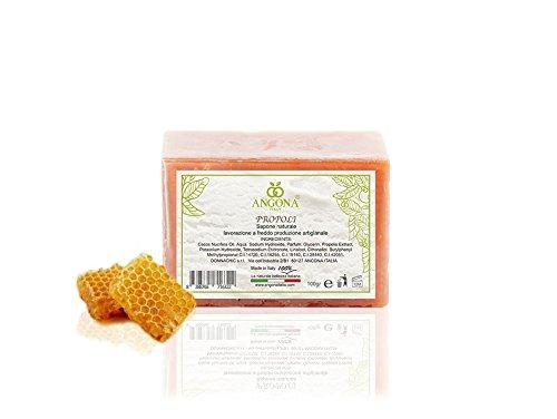 Jabón Natural Propóleos 100 g Producto Italiano, Elaboración Artesanal A Temperatura baja