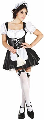 Sexy Hausfrau Kostüm - KULTFAKTOR GmbH Zimmermädchen-Damenkostüm Hausfrau schwarz-Weiss
