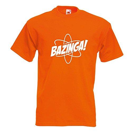 KIWISTAR - Bazinga - TBBT T-Shirt in 15 verschiedenen Farben - Herren Funshirt bedruckt Design Sprüche Spruch Motive Oberteil Baumwolle Print Größe S M L XL XXL Orange
