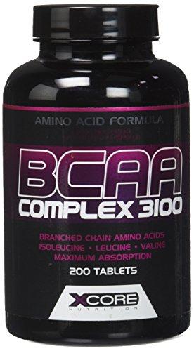 Xcore Nutrition BCAA Complexe 3100 200 Comprimés - Formule Excellent d'Acides Aminés - Encourage la Croissance, la Récupération et les Performances Musculaires - 66 Portions - Utilisation pour 2 Mois