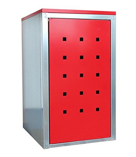 Geiger Mülltonnenbox Metall 120l Color Rubinrot