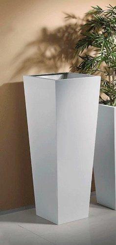Kasper-Wohndesign 24718 Pflanzengefäß, Metall, silber, 50 x 50 x 110 cm