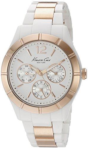 Kenneth Cole New York Women's KC0001 Classic White Dial Steel & Plastic Bracelet Watch