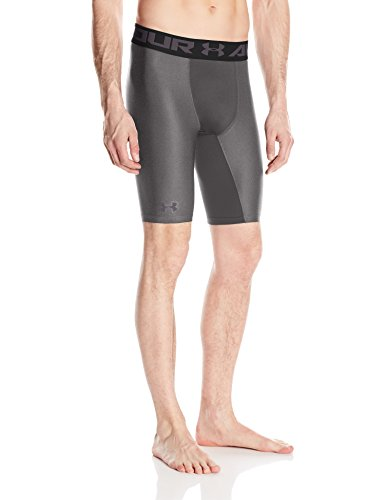 Under Armour HG Armour 2.0 Long Short Pantalones Cortos Deportivos, Hombre, Gris (Carbon Heather), SM