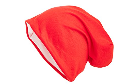 Shenky - cappello double-face in 2 colori - unisex - bianco/rosso