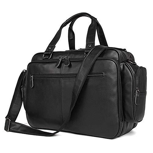 HUANGLINGLING Brieftasche Herren Aktentasche Leder Schultertasche Large Capacity Nappa Leather Tote 16
