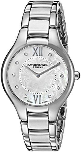 Raymond Weil Noemia Femme 32mm Bracelet & Boitier Acier Inoxydable Saphire Quartz Montre 5132-ST-00985