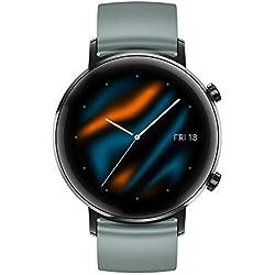 "Huawei Watch GT 2 Sport - Smartwatch con Caja de 42 mm, 1 Semanas de Uso, Pantalla Táctil AMOLED de 1.2"", GPS, 15 Modos Deportivos, Pantalla 3D de Cristal, Monitorización Cardíaca, Color Lake Cyan"