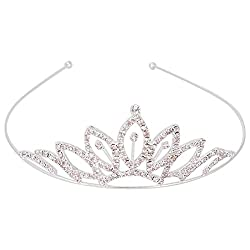 Aaishwarya Shimmering Stone Studded Princess Tiara Hair Band
