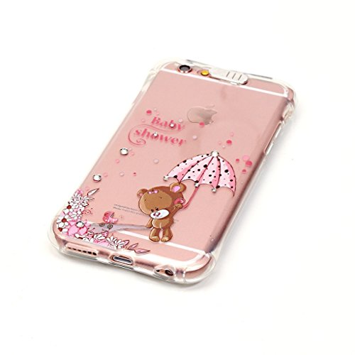 Uming® TPU Fall Abdeckung Hülle Eingehender Anruf Blitz Flash Retro bunte Muster Druck weiche Case Cover ( Dandelion love - für IPhone 5S 5 5G SE IPhone5S IPhoneSE ) Silicone Silikon Shell Schutz Hand Meng Meng Xiong